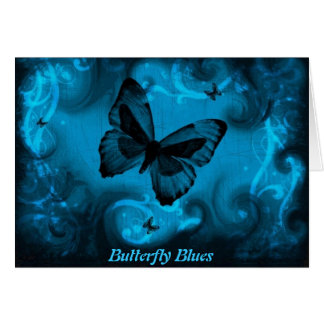 Butterfly Blues! - Miss You Greeting Card