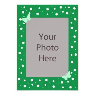 "Butterfly Bubble Wedding Invitation - Green 5"" X 7"" Invitation Card"