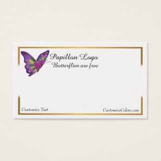 Butterfly Business Card Logo