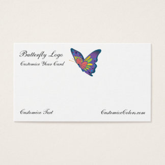 Butterfly Business Card Logo Template