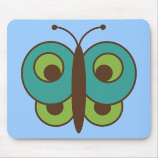 Butterfly Butterflies Insect Bug Lepidoptera Cute Mouse Pad
