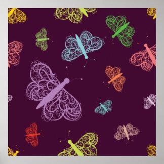 Butterfly Butterflies Moth Moths Poster