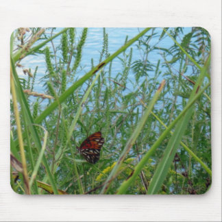 Butterfly by the River Mouse Pad