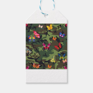 butterfly camouflage gift tags