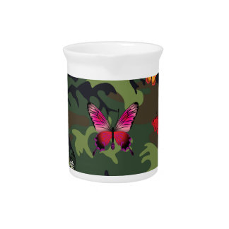 butterfly camouflage pitcher