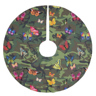 butterfly camouflage xmas christmas tree skirt