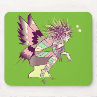 Butterfly Cartoon Fairy Male Green Elf Cute Bright Mouse Pad