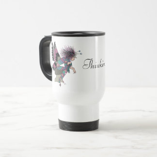 Butterfly Cartoon Unique Fantasy Elf Brownie Chic Travel Mug
