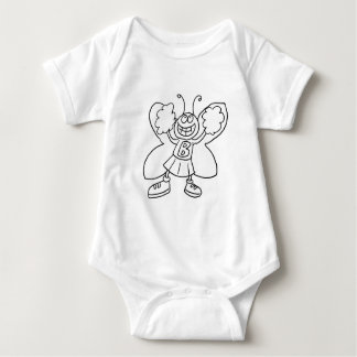 Butterfly Cheerleader Baby Bodysuit