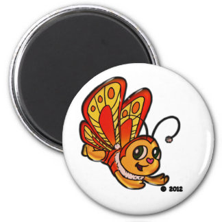 Butterfly Chloe 6 Cm Round Magnet