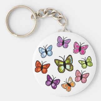 Butterfly circle key chain