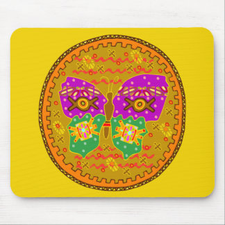 Butterfly Circle Mouse Pad