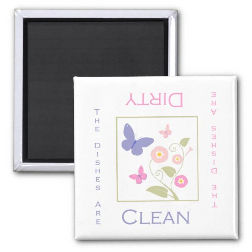 Butterfly Clean or Dirty DIshwasher Magnet
