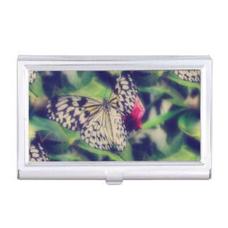 Butterfly Collage Business Card Holder