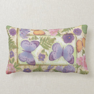 Butterfly Collage Decor Lumbar Cushion