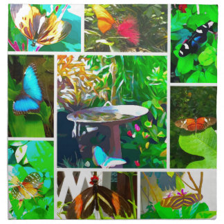 Butterfly Collage Napkin