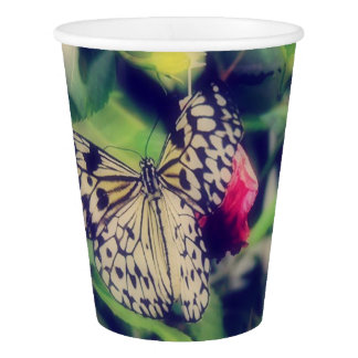 Butterfly Collage Paper Cup