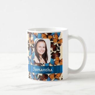 Butterfly collage photo template coffee mugs