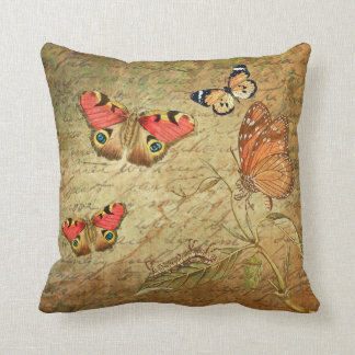 BUTTERFLY COLLAGE Vintage Shabby Chic Cushion