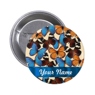 Butterfly collection 6 cm round badge