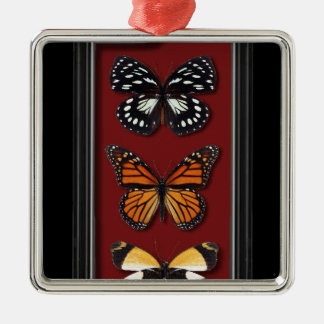 Butterfly collection Silver-Colored square decoration