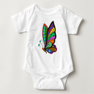 Butterfly Color Baby Bodysuit