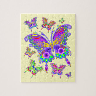Butterfly Colorful Tattoo Style Jigsaw Puzzle