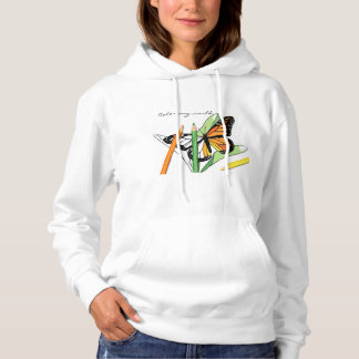 Butterfly coloring sweatshirt pullover