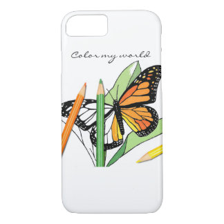 Butterfly colouring phone cover