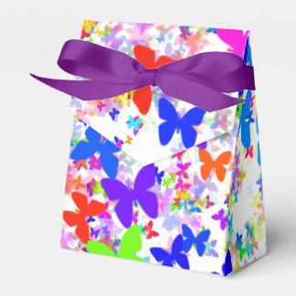 butterfly confetti ribbon favor box favour boxes