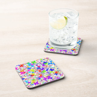 butterfly confetti wedding coasters set