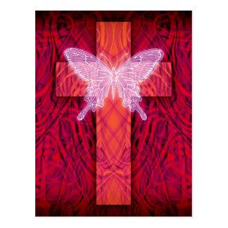 Butterfly cross postcard