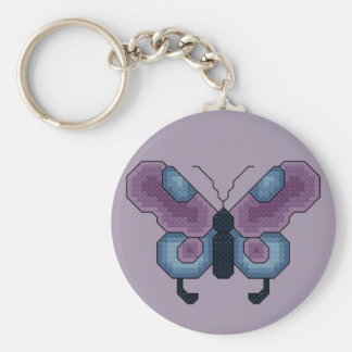 Butterfly Cross Stitch Key Ring