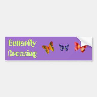 Butterfly Crossing Bumper Sticker