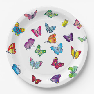 """butterfly Custom Paper Plates 9"""""""