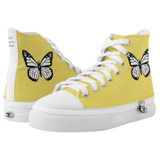 Butterfly Custom Zip High Top Shoes