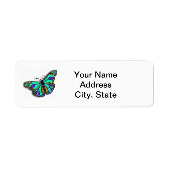 Butterfly Customisable Return Address Label