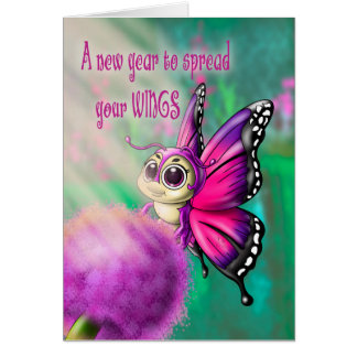 "Butterfly Cutie Birthday Card (5"" x 7"")"