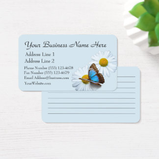 Butterfly & Daisies Business Card