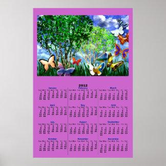 BUTTERFLY DANCE 2012 Calendar Poster