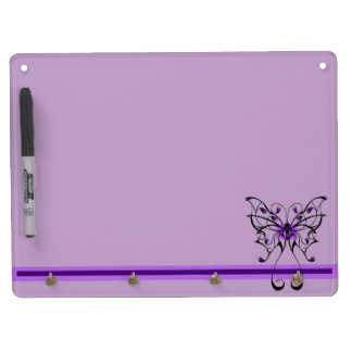 Butterfly Dance Dry Erase Board With Key Ring Holder