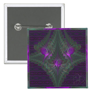 Butterfly Dance of Love Abstract Art 15 Cm Square Badge