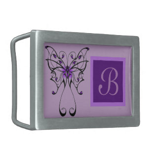 Butterfly Dance Rectangular Belt Buckles