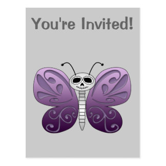 Butterfly Day of the Dead Design Postcard