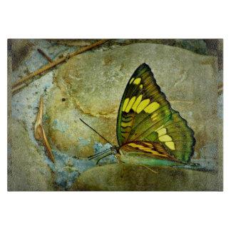 "Butterfly Decorative Glass Cutting Board 11""x8"""