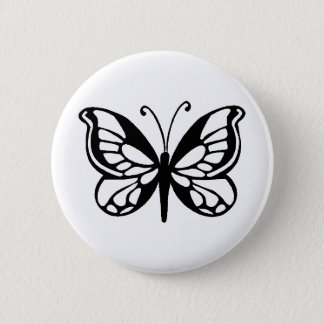 butterfly design 6 cm round badge