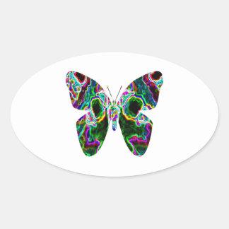 BUTTERFLY Design by Navin Oval Sticker