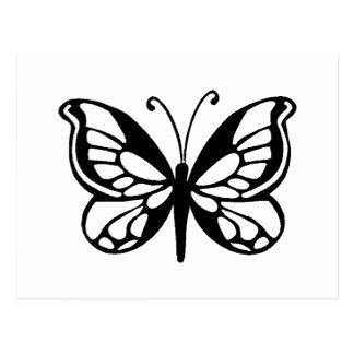 butterfly design postcards