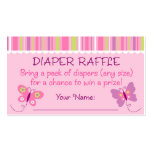 Butterfly Diaper Raffle Tickets Pack Of Standard Business Cards