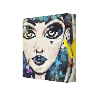 Butterfly Doll Canvas Print